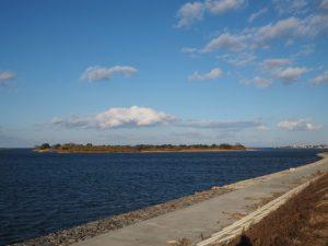宮川の下流域、右岸からの風景