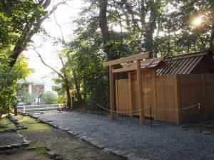 今週に建てられた仮殿、河原淵神社(豊受大神宮 摂社)