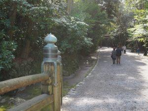 北御門参道の火除橋付近(外宮)