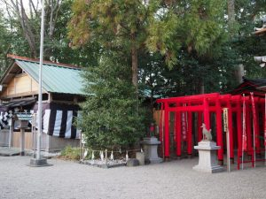坂社と坂之森稲荷社(伊勢市八日市場町)