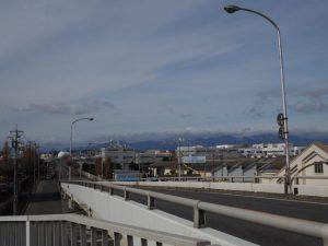 JR貨物 塩浜駅に架かる跨線橋からの眺め