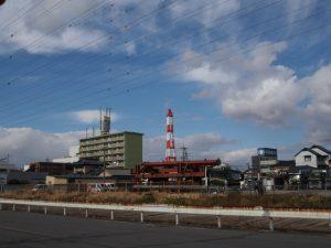県道629号(四日市市宝町)からの風景