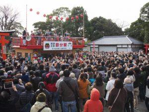 節分祭の福豆まき(海山道神社)