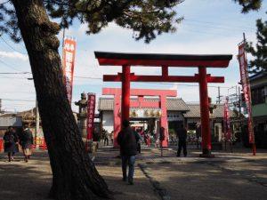 近鉄 海山道駅前の参道(海山道神社)