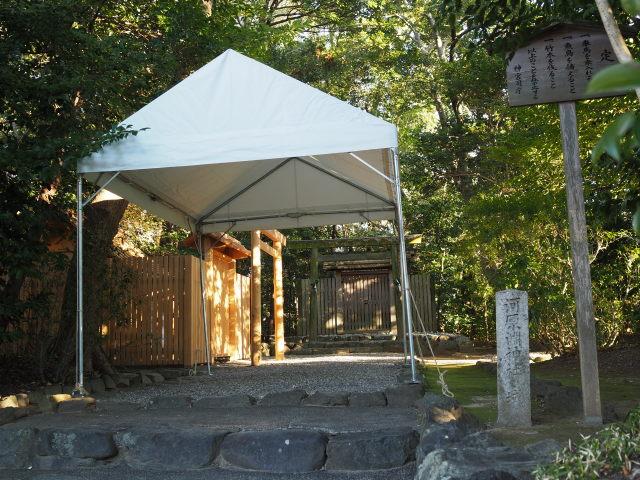 仮殿御遷座の準備、河原淵神社(豊受大神宮 摂社)