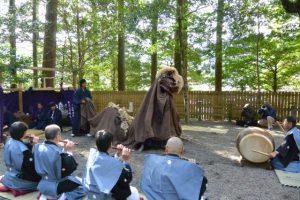 脇出区獅子神楽(一之瀬神社)