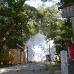 仮殿と板葺き屋根が修繕されたと聞く河原淵神社(豊受大神宮 摂社)