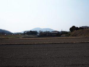 宮川左岸堤防道路と岩出城跡