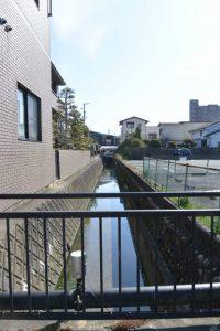 松外垣橋から上流方向の眺め