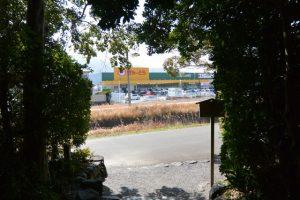 田上大水神社(豊受大神宮 摂社)からの風景