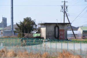 甫蔵主池の畔にあるホトス川揚水機場