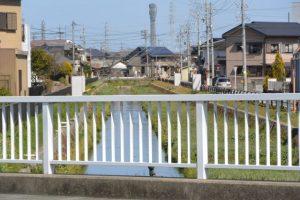 小柳川の下流方向の遠望