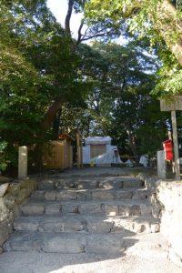 簀屋根が取り外されていた河原淵神社(豊受大神宮 摂社)