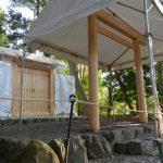 鳥居も建て替られた河原淵神社(豊受大神宮 摂社)