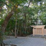 仮殿が撤去されていた河原淵神社(豊受大神宮 摂社)