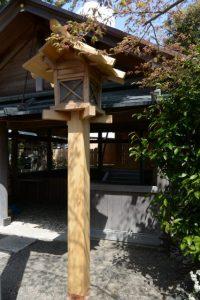 新しい常夜燈、世木神社(伊勢市吹上)