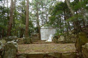 御造替が開始されていた津布良神社(皇大神宮 末社)