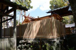 御造替され姿を現した本殿、世木神社(伊勢市吹上)
