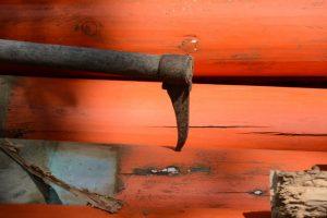 建て替えられる三吉稲荷神社の鳥居、世木神社(伊勢市吹上)