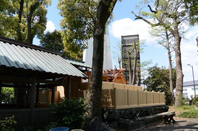 御造替された本殿が姿を現した世木神社(伊勢市吹上)