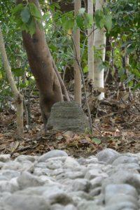 古殿地の中心に置かれていた石が移動された河原神社(豊受大神宮 摂社)