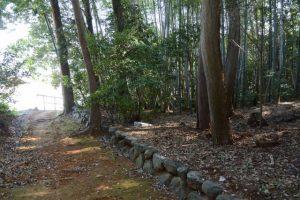 小型重機が移動したと思われるルート、津布良神社(皇大神宮 末社)