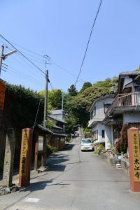 太江寺の参道(伊勢市二見町江)