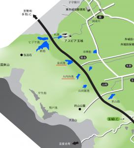 積良周辺地図(広報たまき No.349より抜粋)
