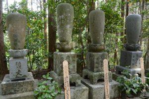 梅香寺を移転中興した二十二世南誉の卒塔婆