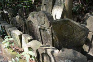 梅香寺歴代住職の墓地付近