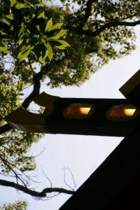 拝殿の千木(猿田彦神社)
