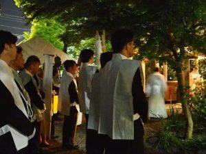 世木神社の本殿遷座祭(伊勢市吹上)