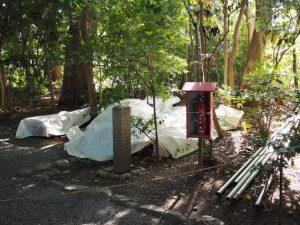 大修繕が開始された河原神社(豊受大神宮 摂社)