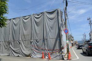 解体がさらに進む井阪長七商店(伊勢市河崎)