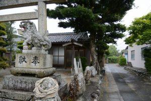 天香山神社付近(松阪市保津町)