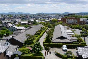 松坂城跡から望む御城番屋敷