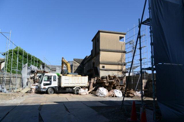 解体がさらにさらに進む井阪長七商店(伊勢市河崎)