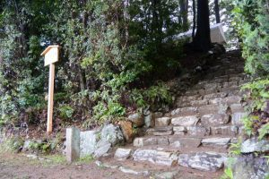遷座祭の朝、津布良神社(皇大神宮 末社)