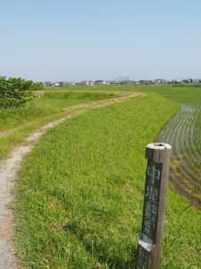 中堤(伊勢市通町と一色町の境界)