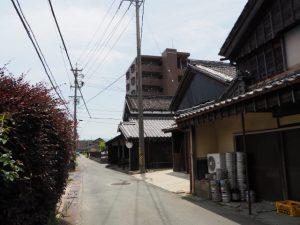 角屋醤油・味噌溜製造所付近(伊勢市神久)