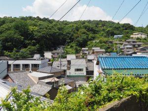 近鉄志摩線中之郷駅から旧鳥羽小学校への途中にての眺望