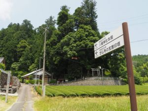 念佛寺・八幡神社への案内板(津市美杉町奥津)