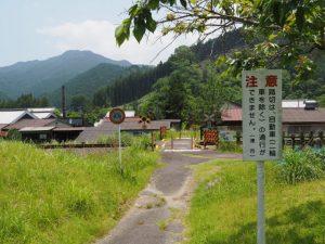 JR名松線 神社踏切付近(津市美杉町奥津)