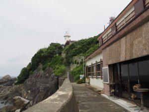 大王崎灯台の遠望(志摩市大王町波切)