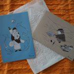 買い求めたシャンティーさんのポストカード「願いの音」ほか