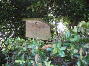 定の立札は古い状態の河原神社(豊受大神宮 摂社)
