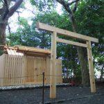 鳥居を建てられた河原神社(豊受大神宮 摂社)