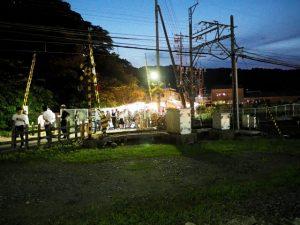 赤崎さん(ゆかた祭り)、赤崎神社(豊受大神宮 末社)付近