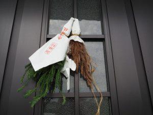 御神杉(赤崎神社)の掛け替え 2018