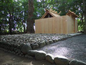 仮殿が姿を消していた河原神社(豊受大神宮 摂社)